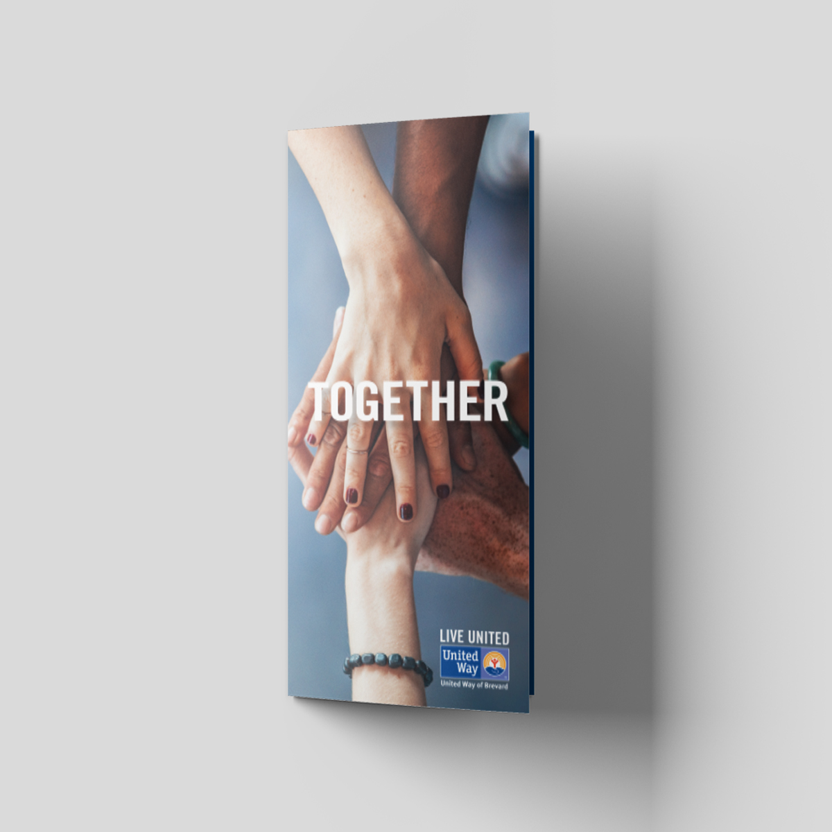 United way together campaign brochure cover