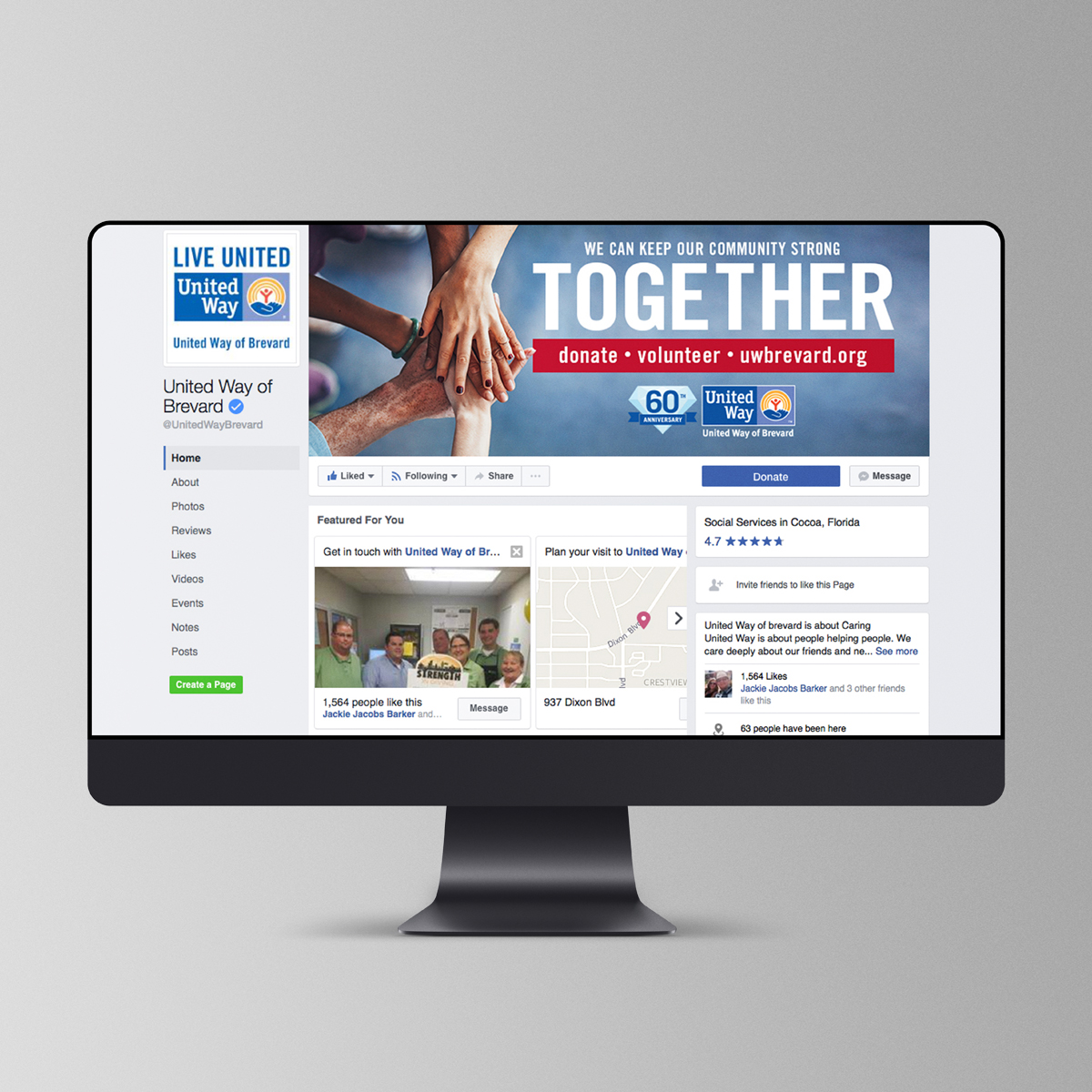 United way together campaign fb profile