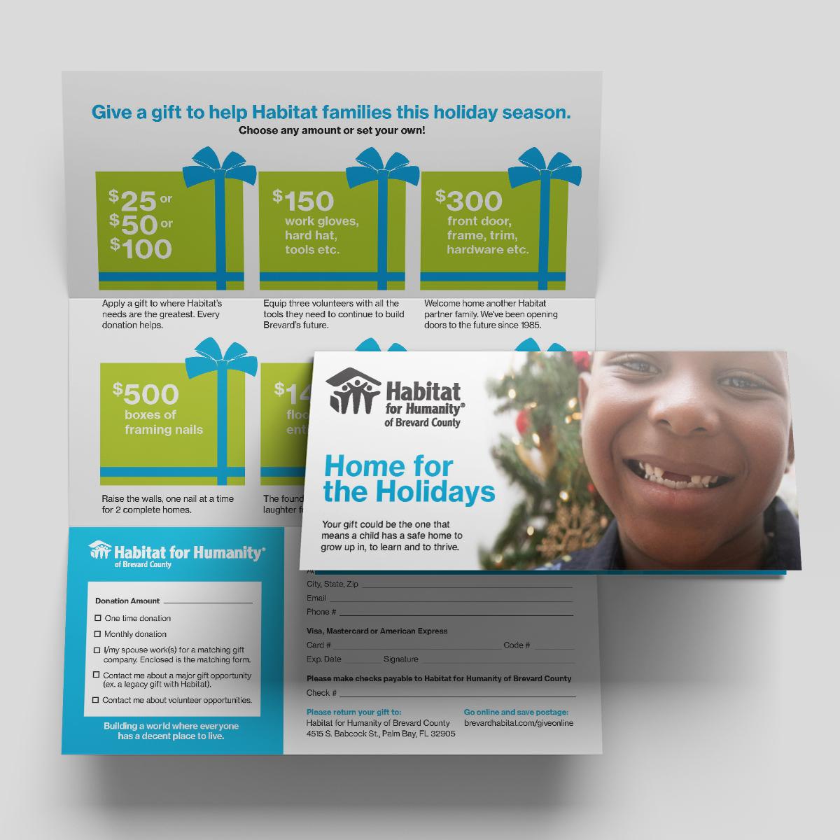 habitat holiday print package