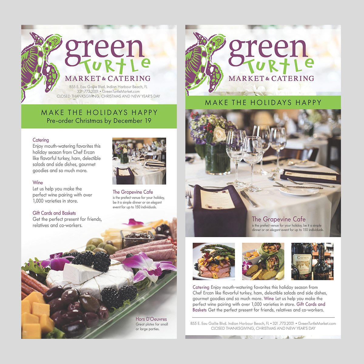 green turtle catering ad holiday