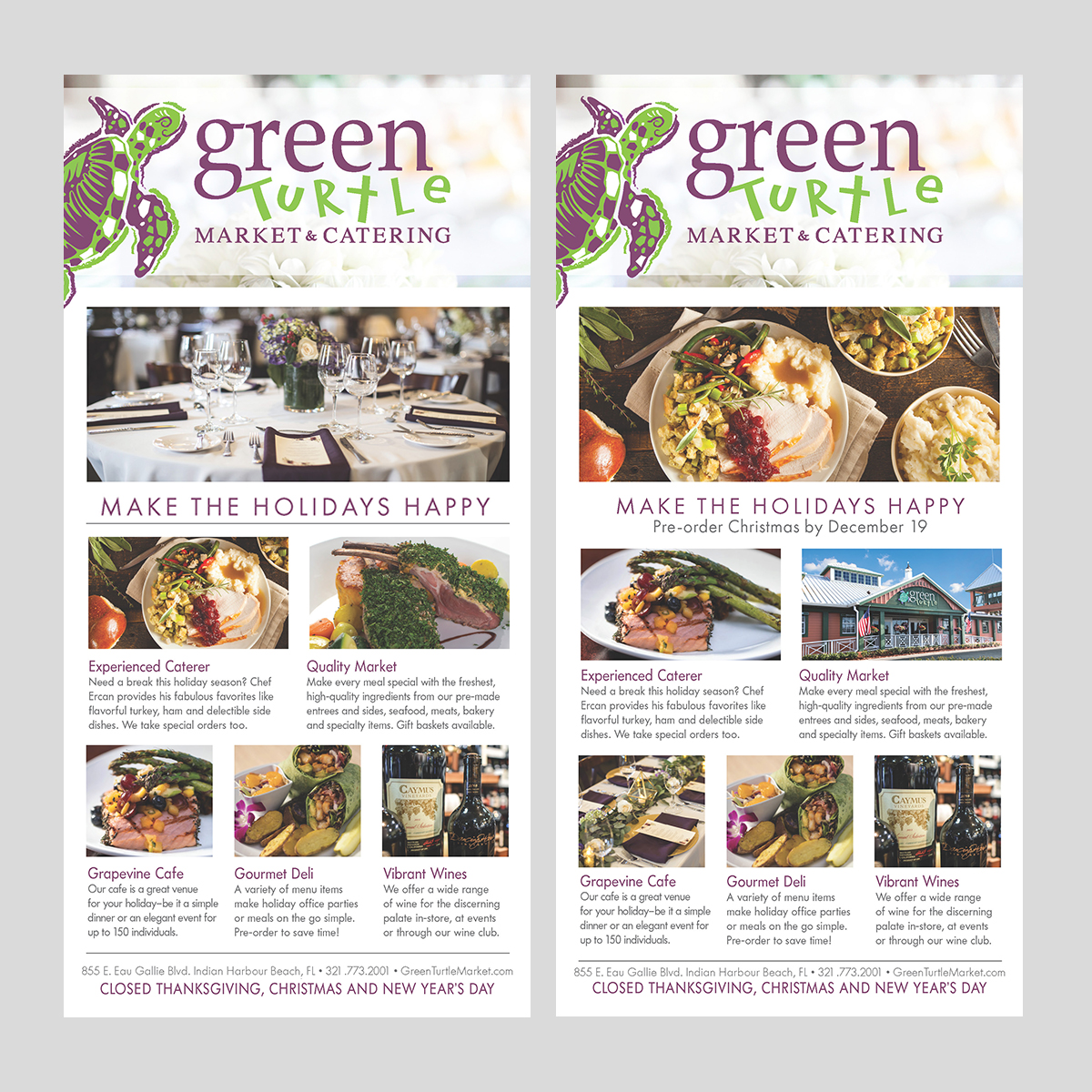 green turtle catering ad