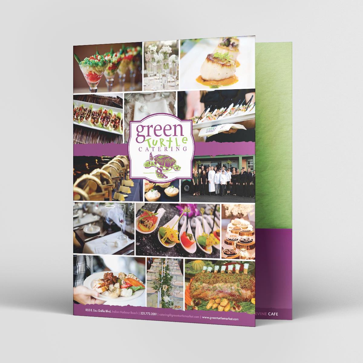 green turtle catering folder