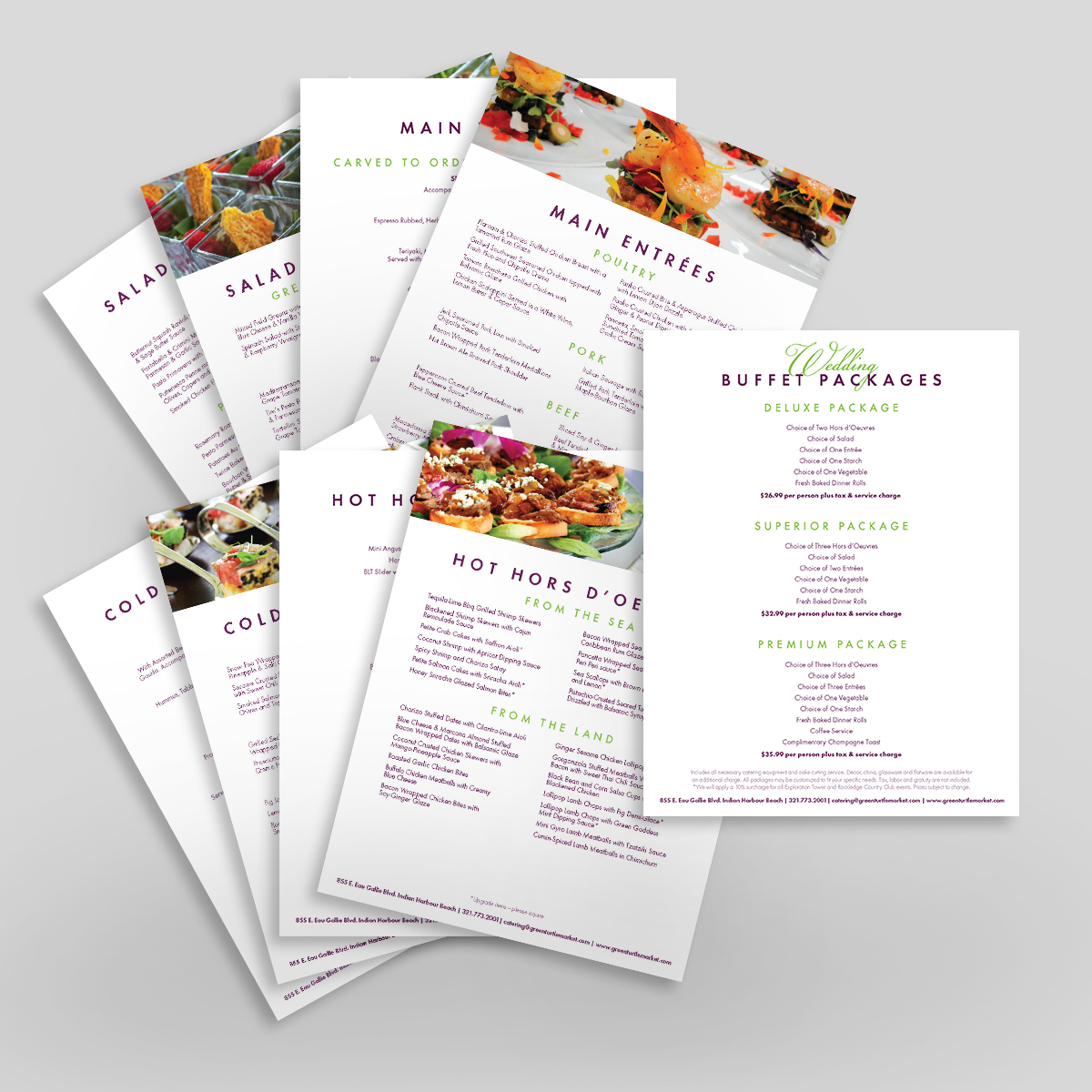 green turtle catering sell sheets