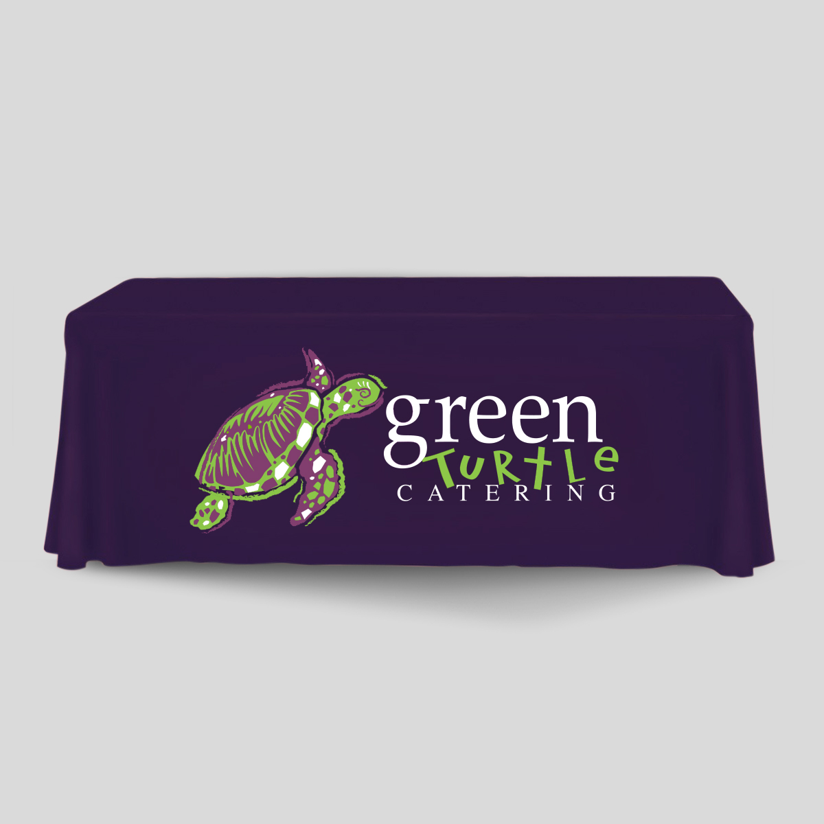 green turtle tablecloth