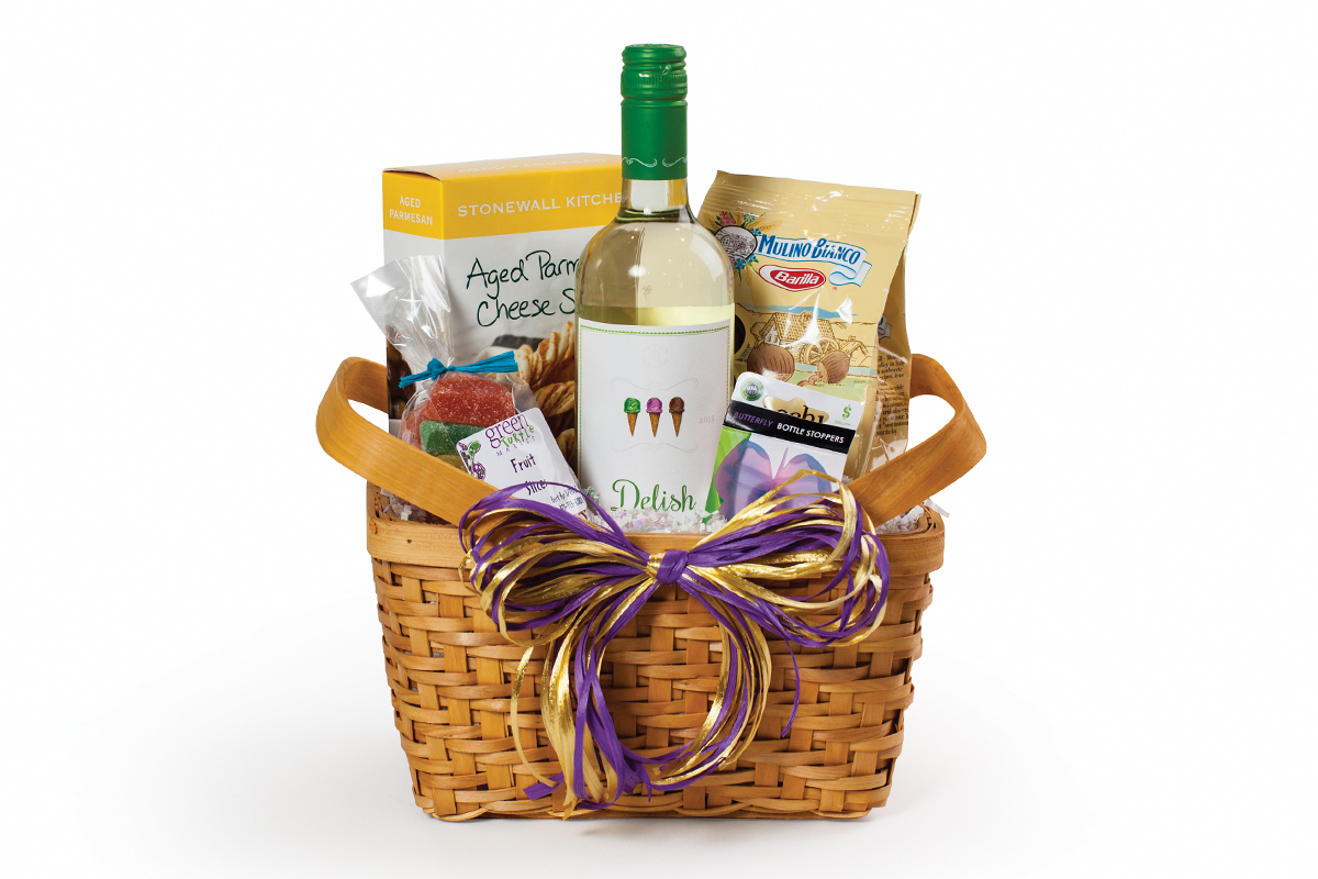 green turtle thank you basket