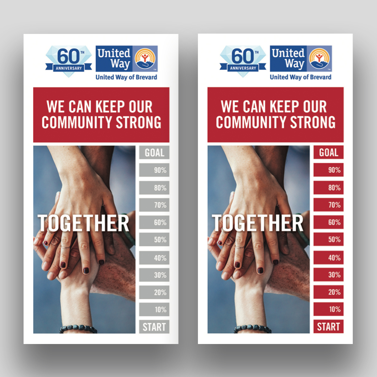 United way together campaigh thermometer