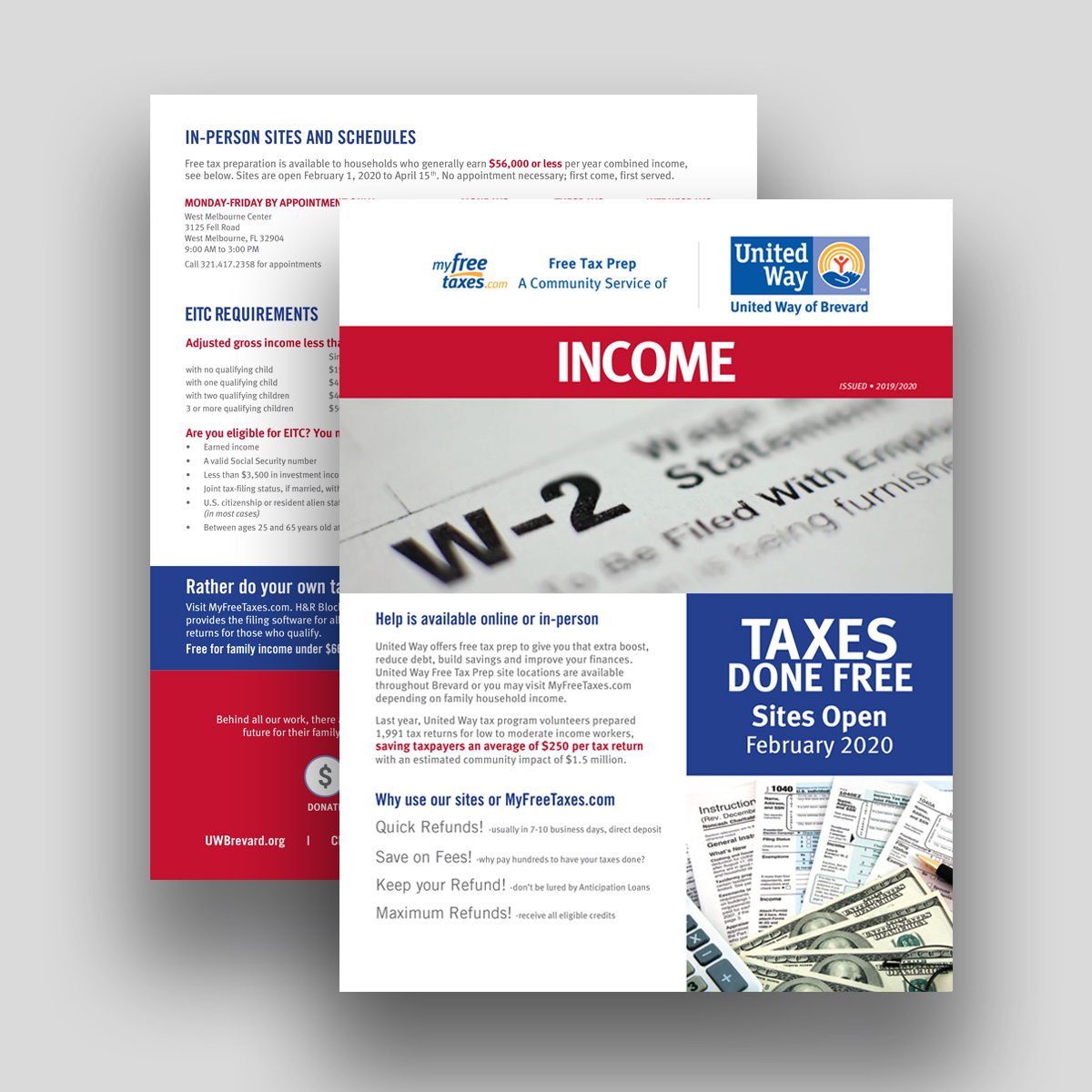 United way taxes flyer english
