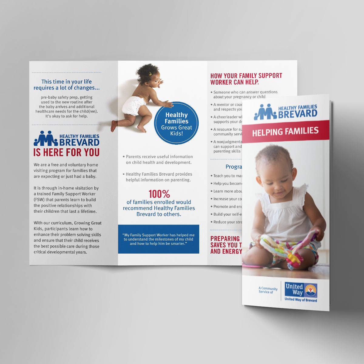United way healthy families brochure