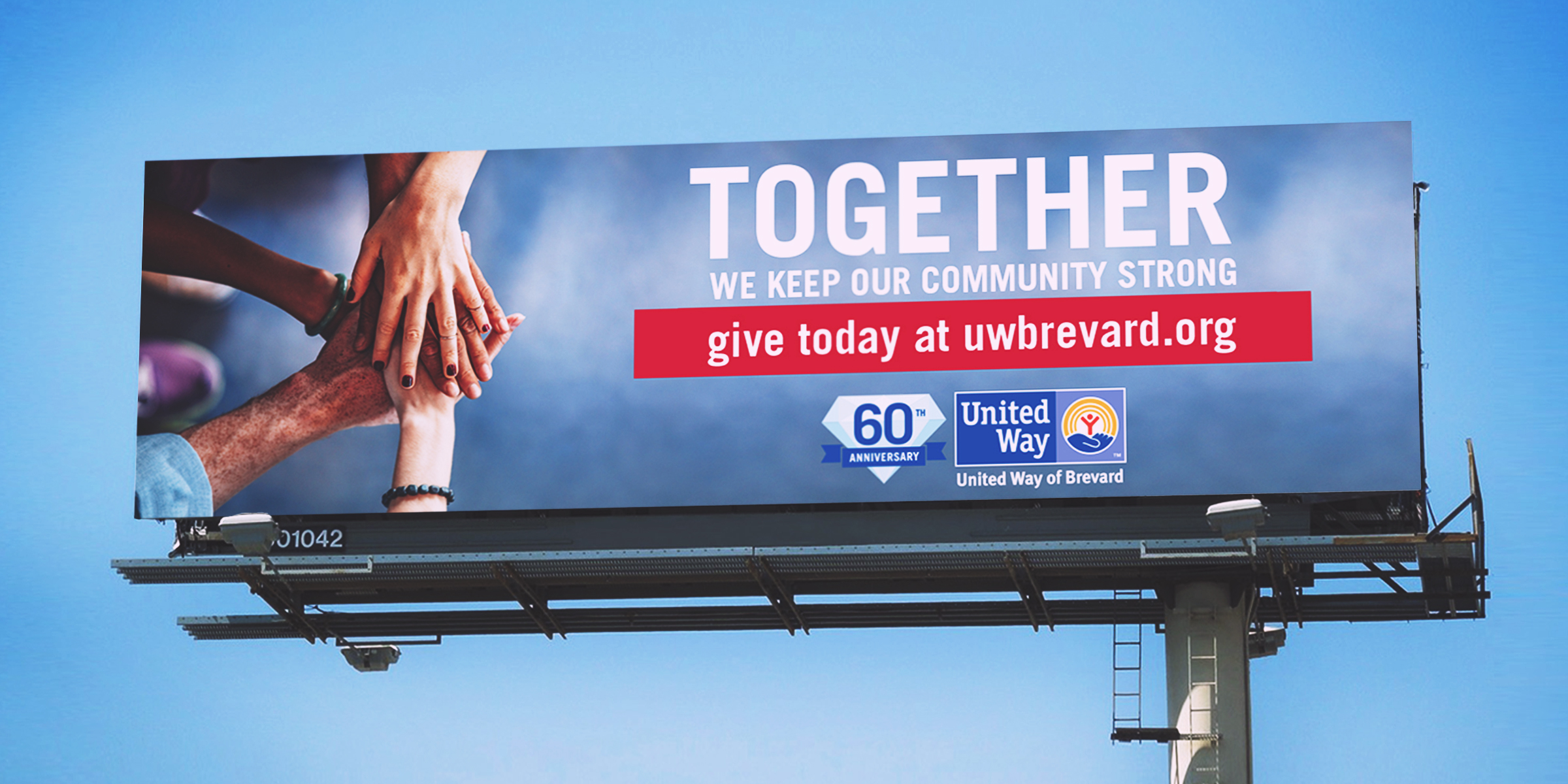 united way clearchannel billboard
