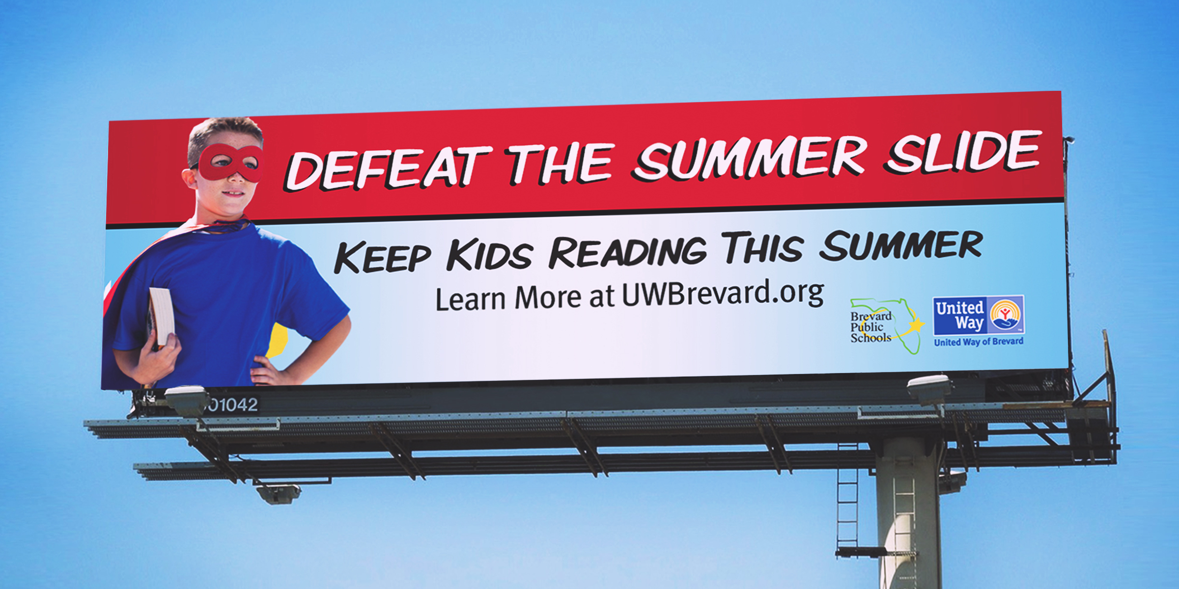 United way summer slide billboard 3
