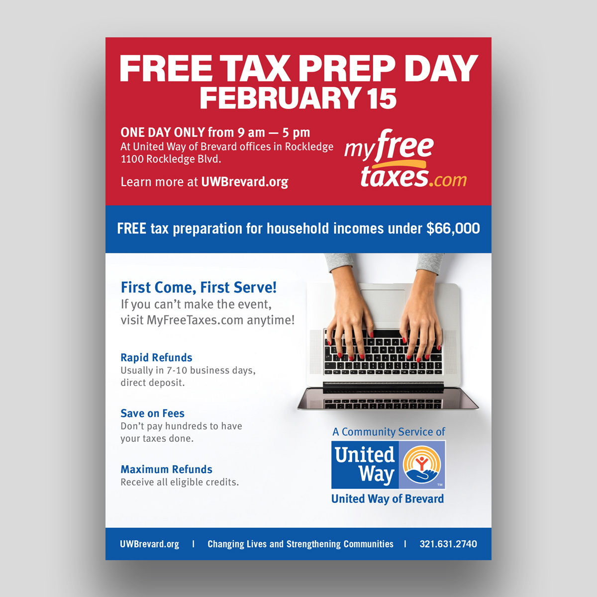 United way taxes print ad