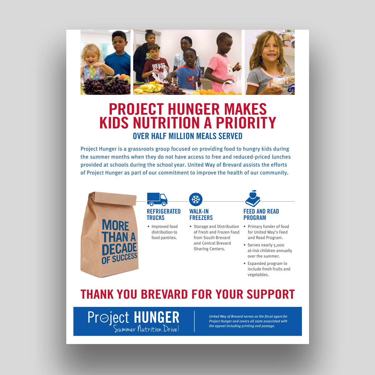 United way project hunger flyer