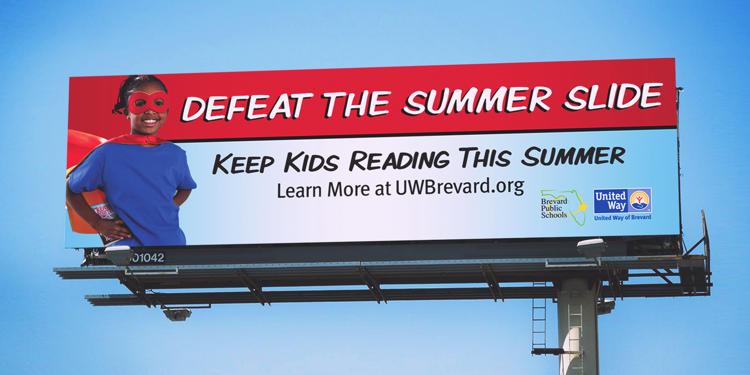 United way summer slide billboard 2