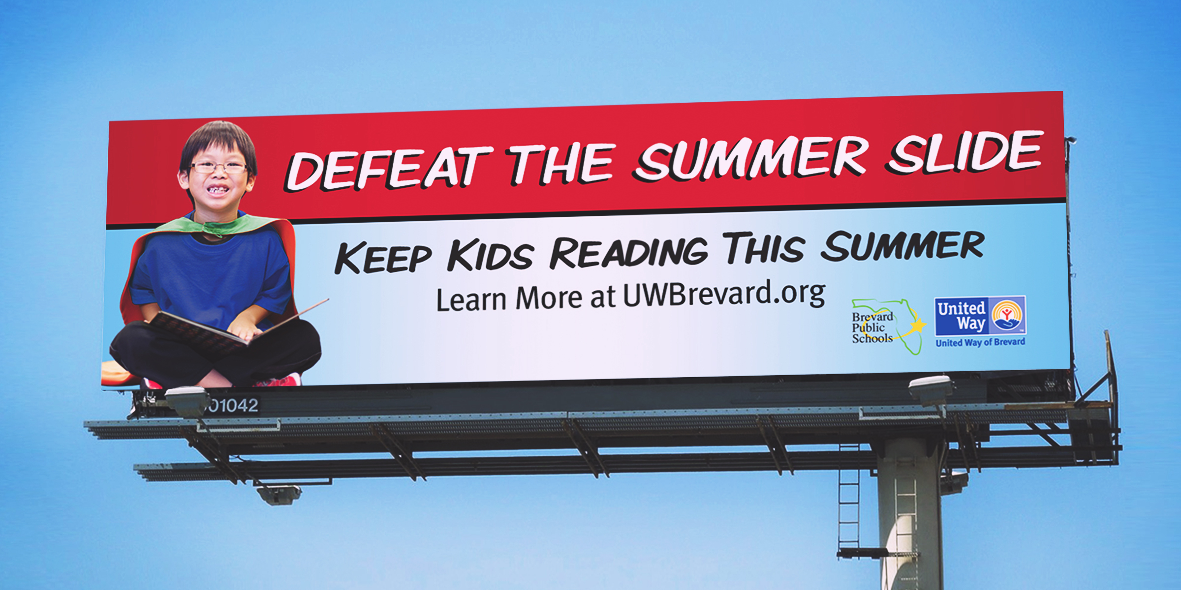 United way summer slide billboard