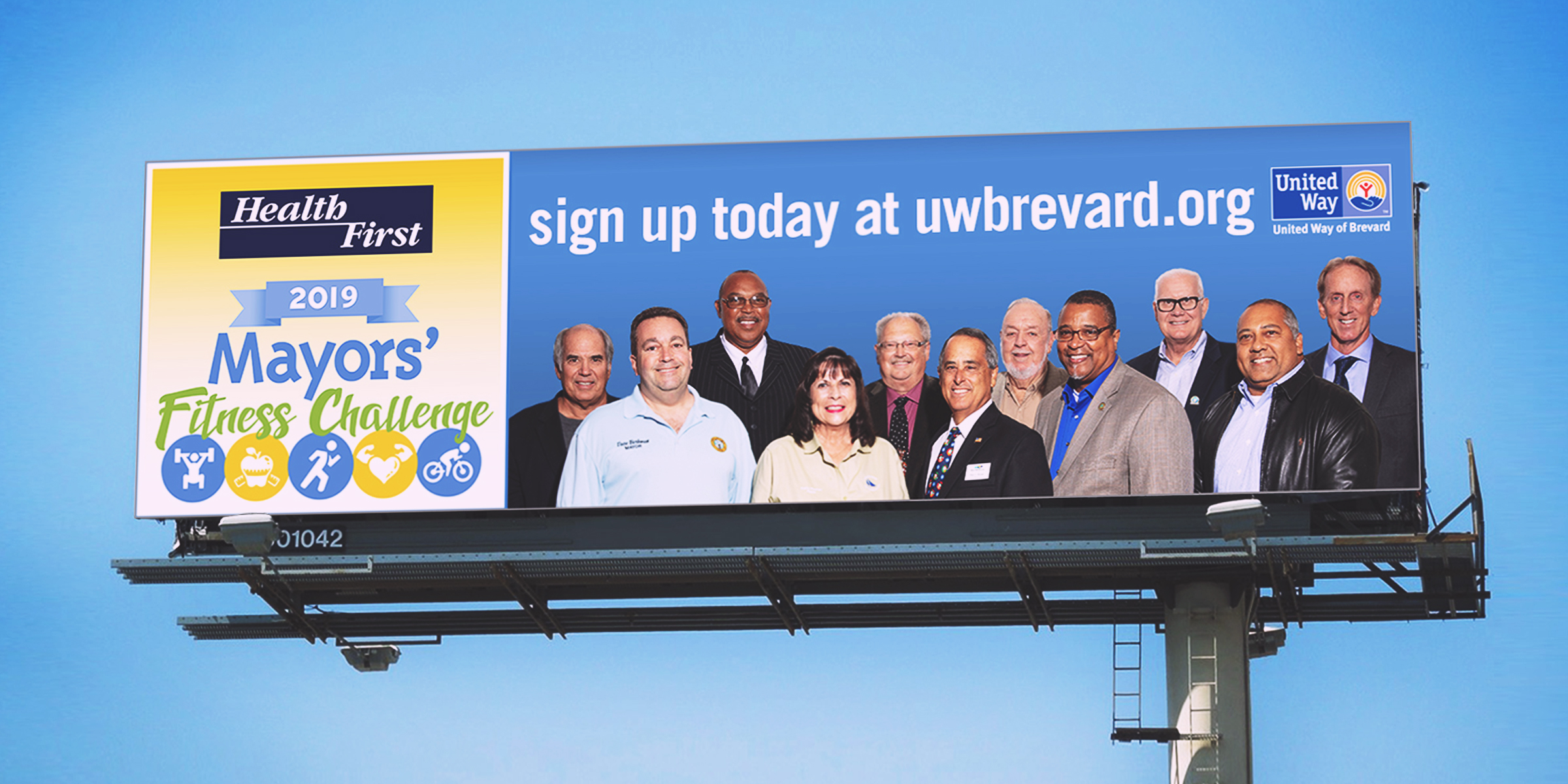 United way fitness billboard