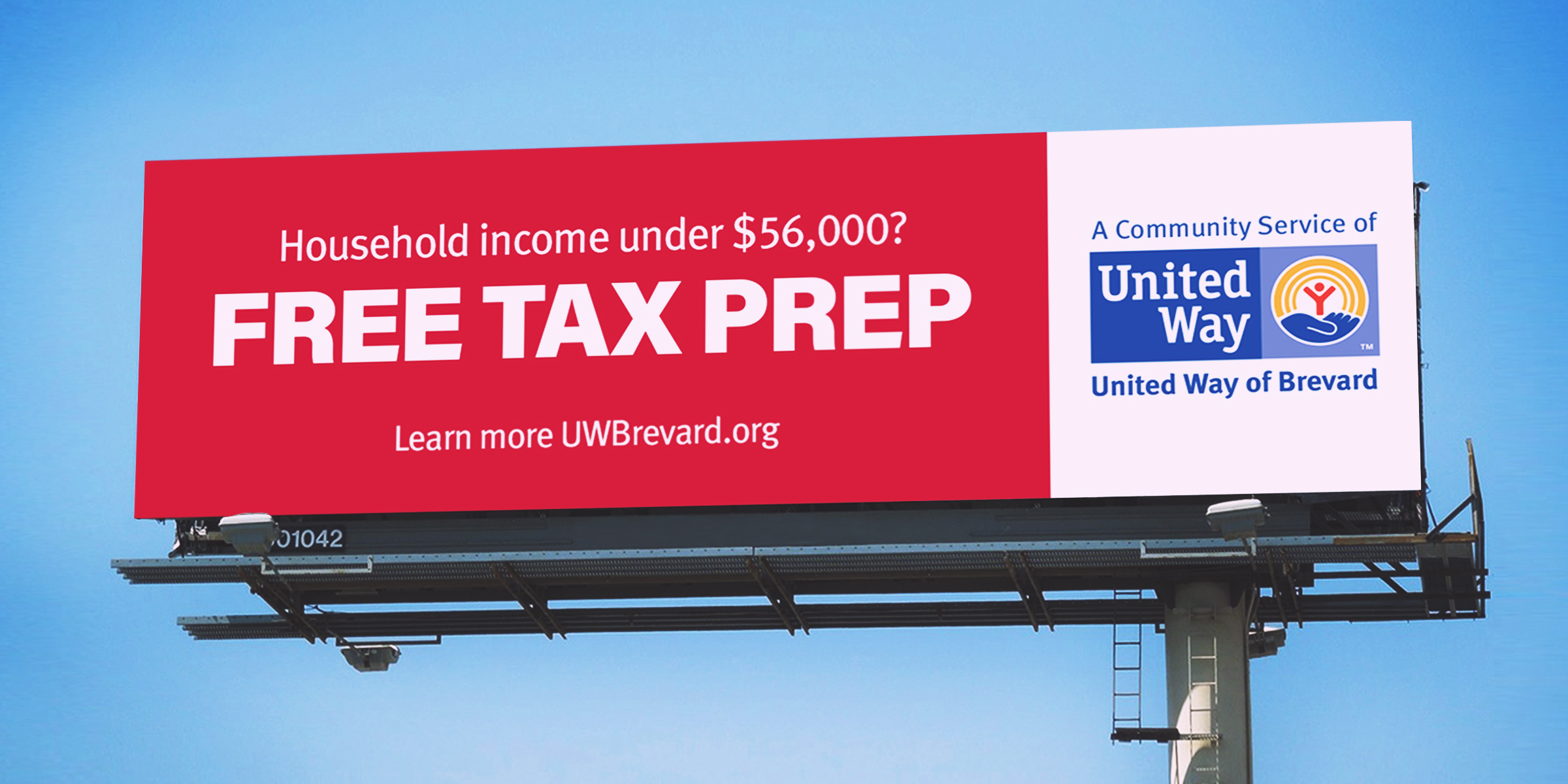 United way tax prep billboard