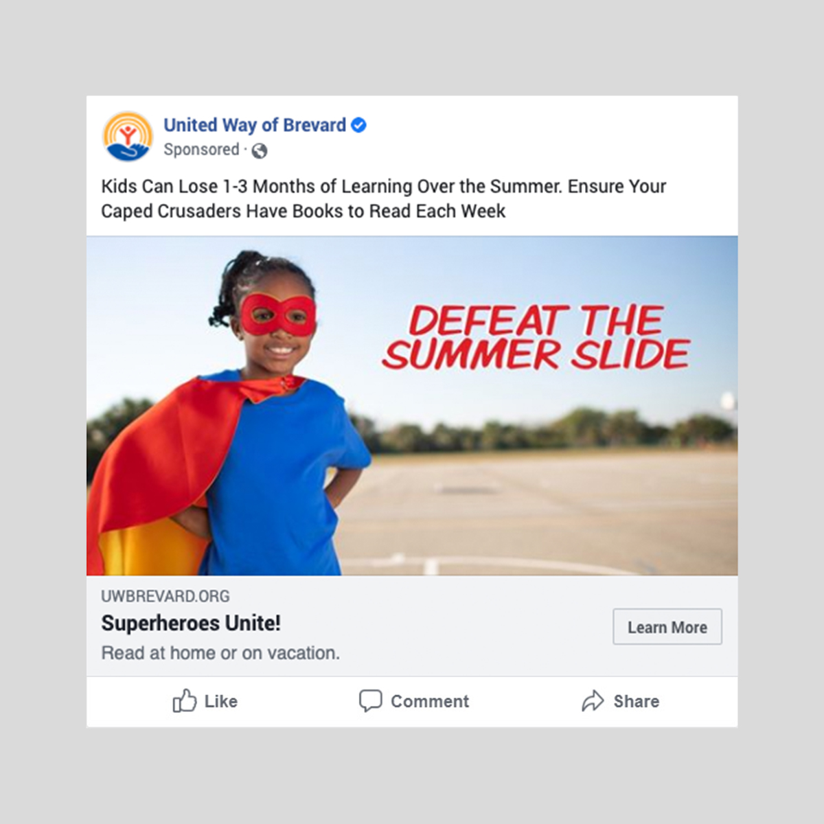 United way summer slide ad 2