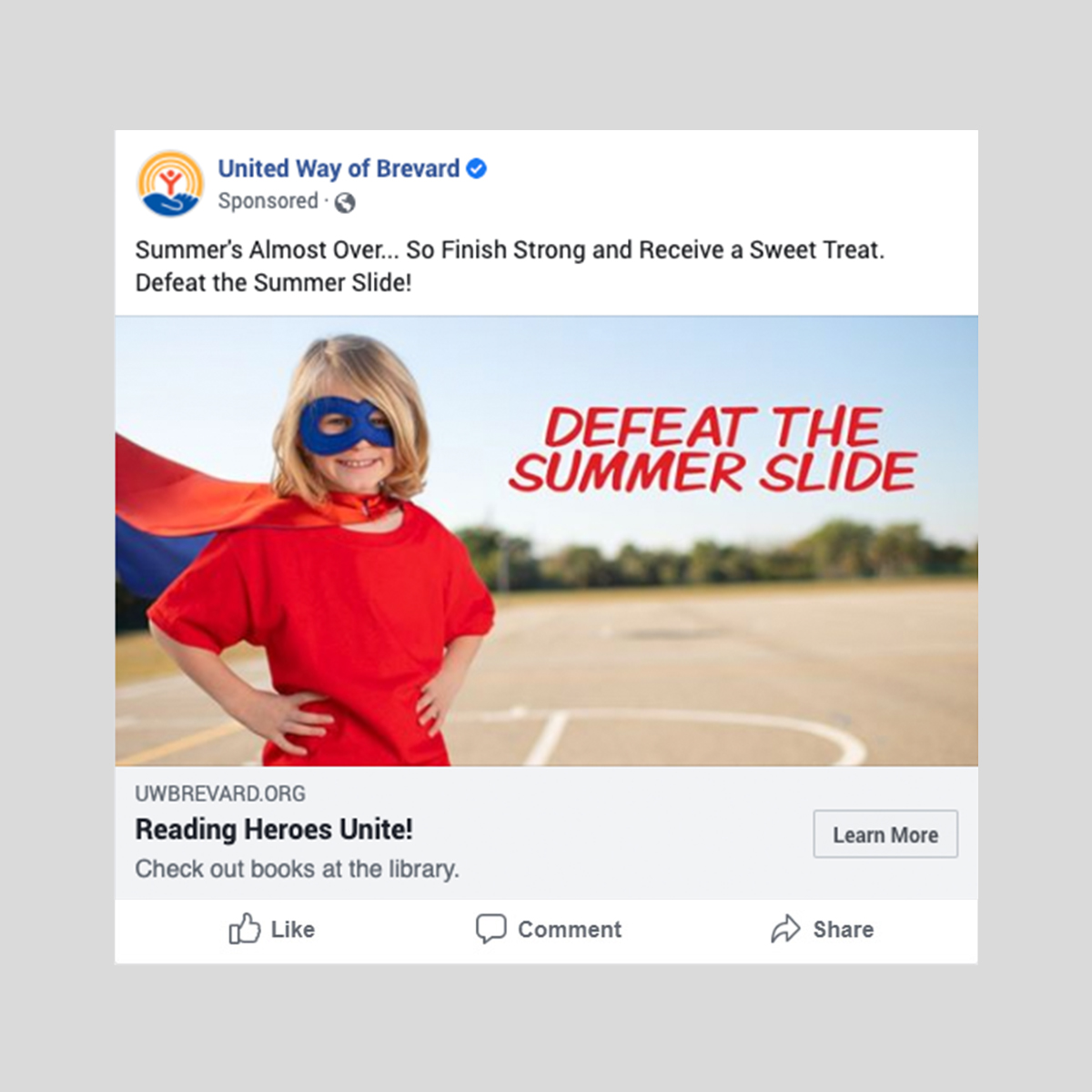 United way summer slide ad