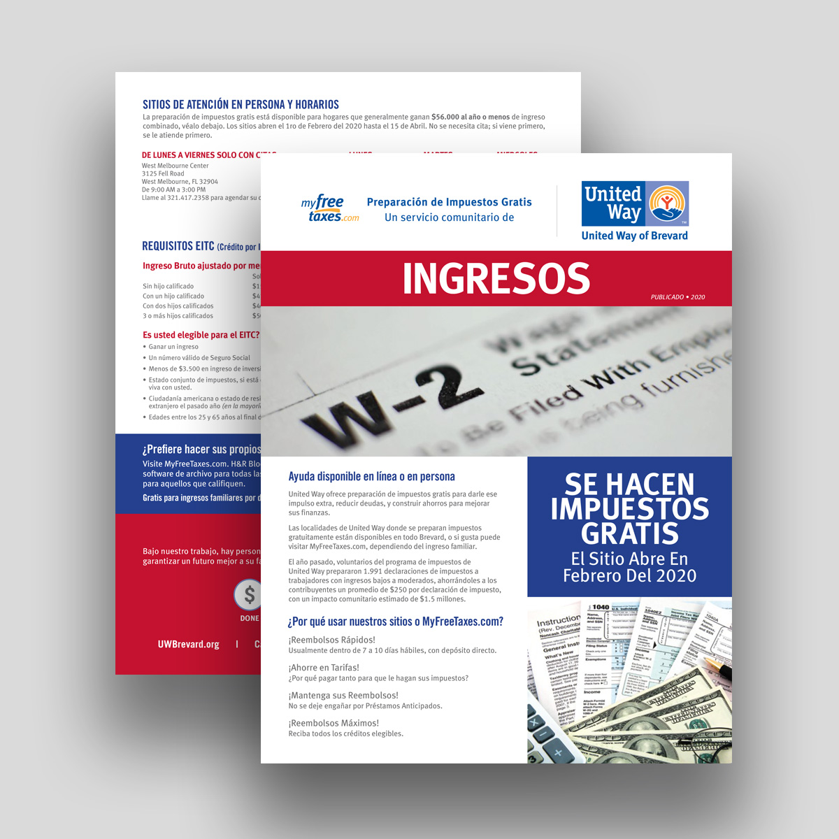 united way taxes flyer spanish