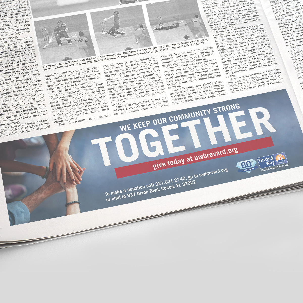 united way together newspaper strip ad