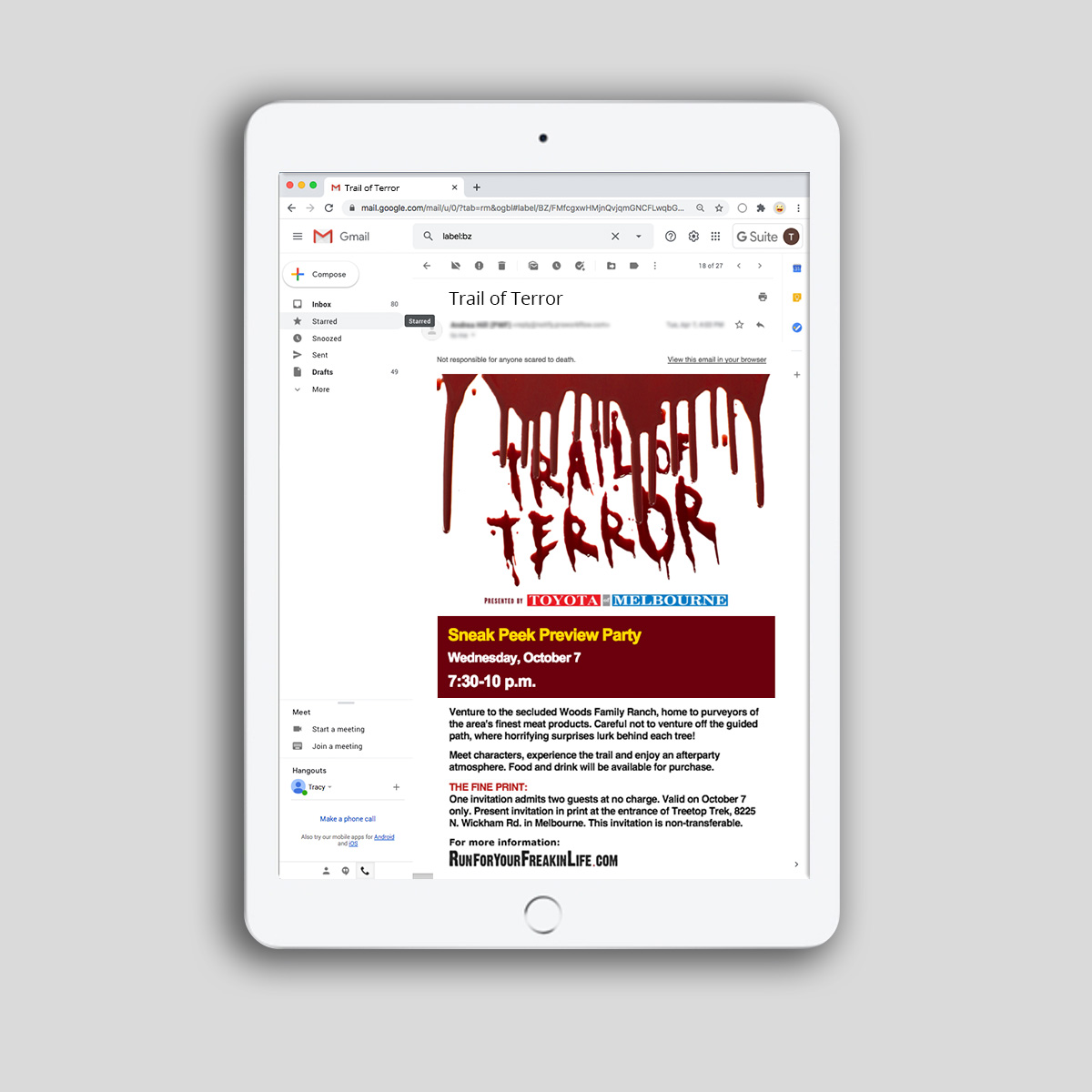 trail of terror email